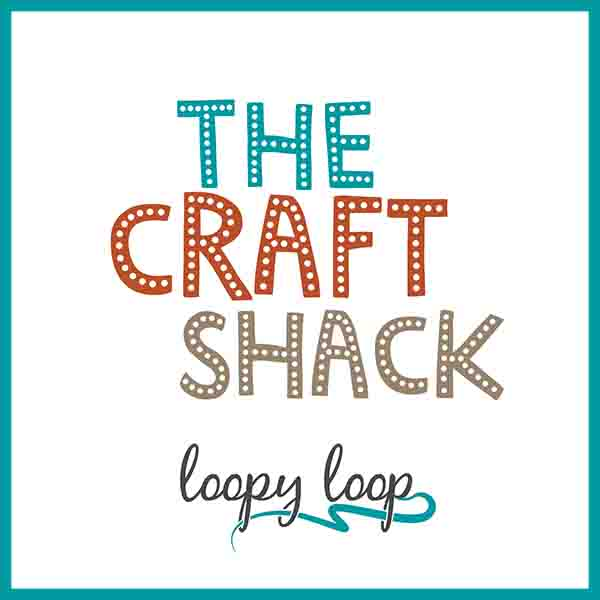 The Craft Shack logo with Loopy Loop signature
